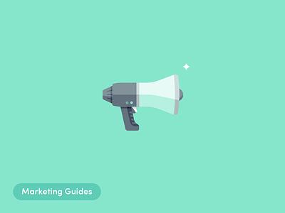 Marketing Guides marketing guides illustrations ecommerce megaphone blog alliioop