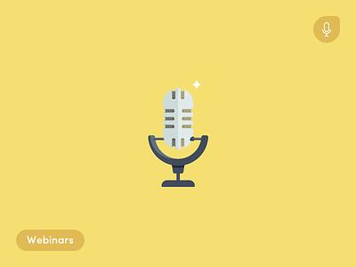 Webinars illustrations webinars ecommerce microphone blog alliioop
