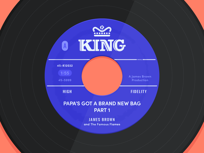 Papa's Got A Brand New Bag - Side A 7-inch james brown single hit funk music records king