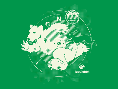 Happy Camper 2013 T-Shirt happy camper tshirt apparel hazel monarch illustration taskrabbit