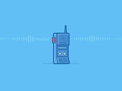 Hello! walkie talkie voice hello