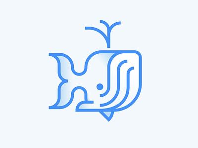 Humpback Whale icon design dribbbleweeklywarmup illustration whale