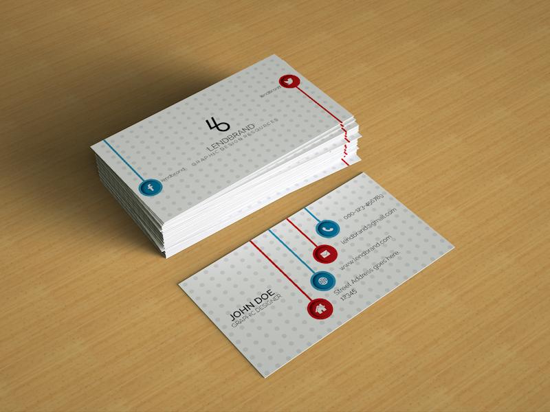 Free Psd Business Card Mockup Vol 2 by LendBrand - Dribbble
