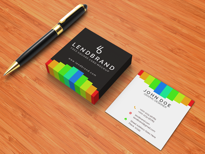 Free Square Business Card PSD Mockup Vol 2