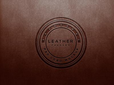 Puched Leather Logo Mockup logo designs mockup psd psd mockup psd design mockups premium mockup premium psd leather mockup leather logo mockup