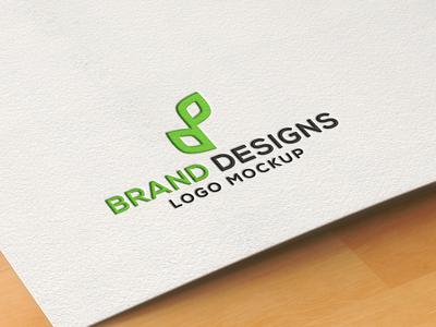 Premium Pressed Paper Logo Mockup