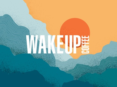 Wake Up Coffee - Identity & Illustration abstract vector posm coffee identity design branding illustration