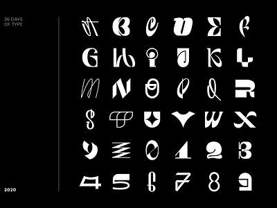 36 Days of Type logotype logo typography type 36daysoftype 36daysoftype07 calligraphy font letter lettering