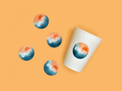 Wake Up Coffee - Сoffee Stickers coffee packaging idenity branding design illustration dribbble logotype logo