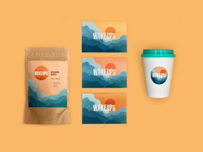 Wake Up Coffee - Identity identity coffee vector branding illustration dribbble