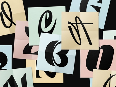 36 Days of Type 2020 dribbble logotype lettering typography type 36daysoftype 36daysoftype07 calligraphy font letter logo
