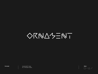 Ornament - Logo concept concept type font dribbble letter lettering logotype logo