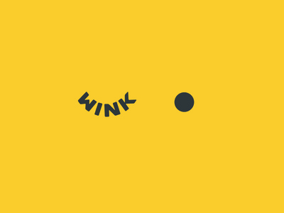 Wink - Logo idea wink simpe unused for sale buy logo concept buy branding identity logotype dribbble logo