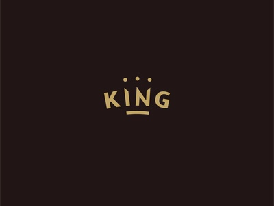 King - logo typography concept lettering identity branding dribbble logotype logo