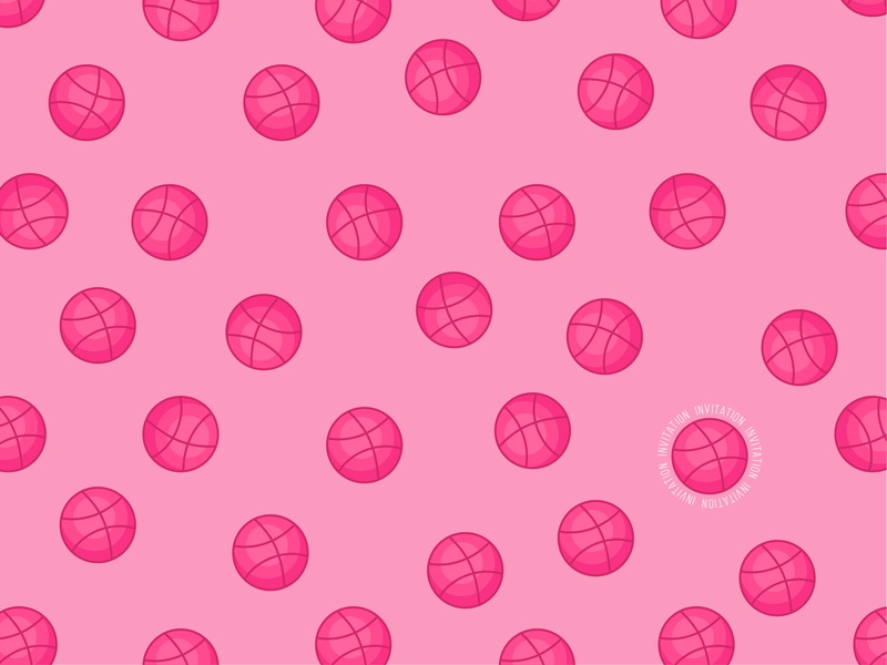 Dribbble Invitation! Polka dots dribbblers) logo illustrartion dots pattern polkadots polkadot dribbble invite dribbble invitations invitation invites invite