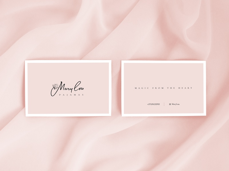 Mary Lou, Business card - Sleepwear & Pajamas for Women business card card calligraphy lettering identity branding logotype dribbble logo