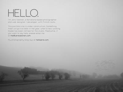 Holding Page website bw ui web background image foggy