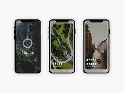 Places App Preview brand app app design design ui