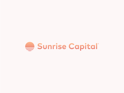 Sunrise Capital Logo brand art beauty orange logodesign logo design