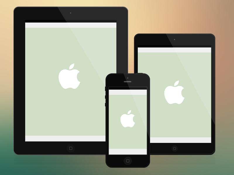 Minimalist iOS Devices - psds app design download free interface minimalism psd resource ui