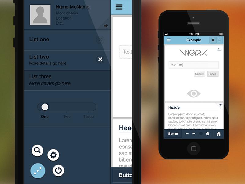 iOS Flat UI psds ios ui app user flat article psds free reference