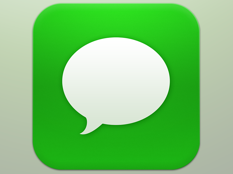 iphone green messages ios 7 messages icon by tim green dribbble dribbble 11903