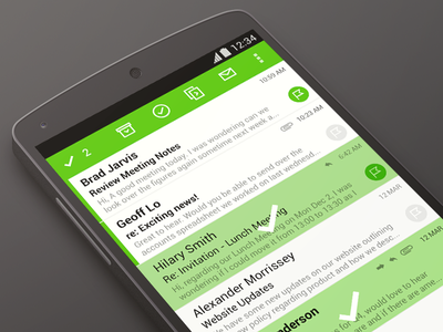 Redesigning enterprise mail enterprise app mail android email inbox ui