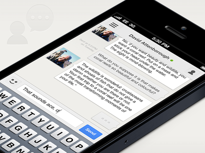 Gchat Conversation  gchat gtalk google chat google talk ios concept app