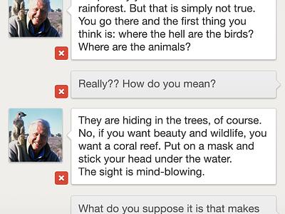 Gchat - Edit mode in a conversation gchat gtalk google chat google talk ios concept app