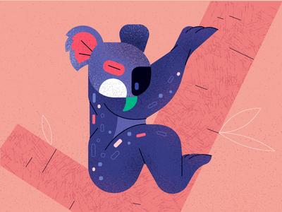 koala (letter K) animal koala flat typogaphy 36daysoftype vector character illustration