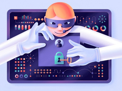 How Weak Anonymization Became a Privacy Illusion thief protection scientist geometry blog key datascience data science vector illustration