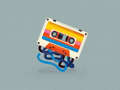 Cassette nostalgie music 90s cassette design vector illustration