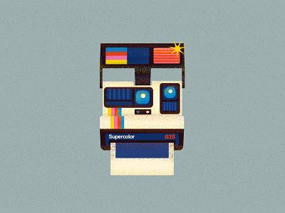 Polaroid photo color retro polaroid 90s design vector illustration