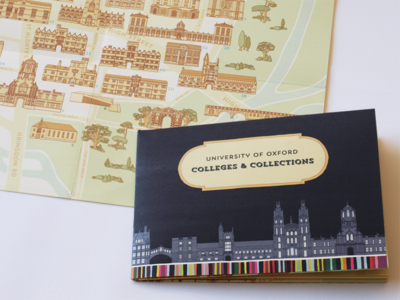 Oxford University College & Collections Map map oxford oxford university graphic design illustration