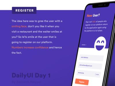 DailyUI challenge Day 1