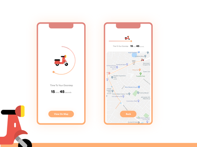 #DailyUI Day 14 Challenge illustrationer uxer easy swiggy zomato countdown delivery food simple flat minimal app ios android clean ui ux design