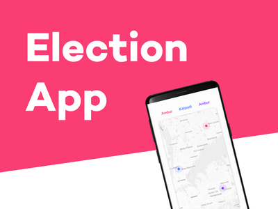 Election Application Design uxer branding ui ux designer official college ux ui design ux uidesign ui ios flat design clean app android