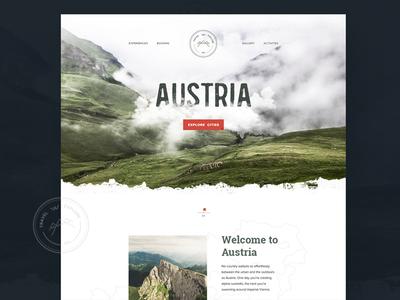 Austria webdesign travel landing page design graphic web