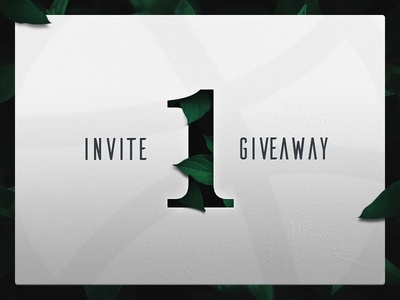 1 invite to giveaway player draft dribbble giveaway invite