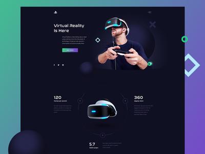 Vr main page concept webdesign vr visual ui banner design graphic web