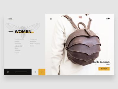 Bugs. banner web ui graphic design