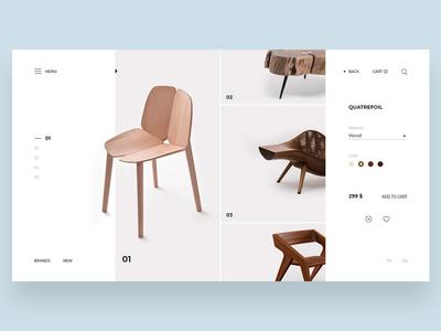 Furniture store concept page furniture shop furniture minimal banner landing page webdesign ux ui web graphic design