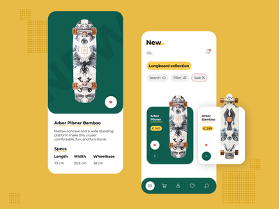 Longboard concept app webdesign concept application app mobile ui graphic web design