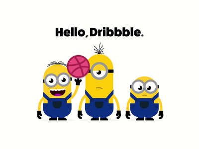 Hello, Dribbble. hello dribbble hello animation apple motion minions illustrator fan art vector illustration design
