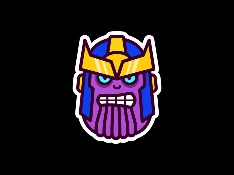 Thanos avengers marvel fan art illustrator vector illustration design