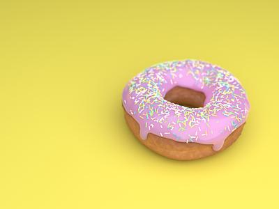 3D donut illustration 3d render 3dillustration blender3dart donut 3dart 3dblender blender3d yellow pink