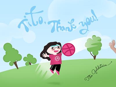 Hi, Dribbble! illustration debut