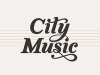 CityMusic Logo, Typography Concept