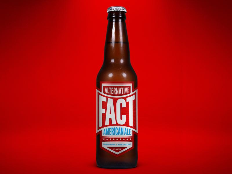 Alternative Fact American Ale america typography home brew beer branding beer art label beer
