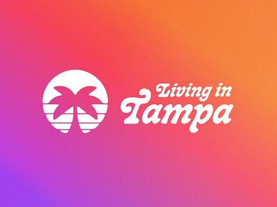 Living in Tampa Rebound real estate gradient palm tree sunset florida tampa